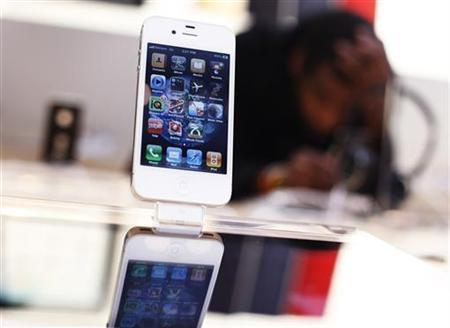 An iPhone is seen at the Apple store in New York