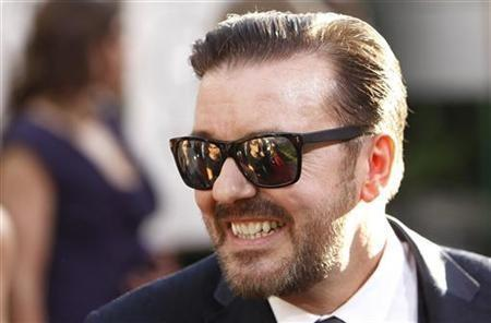 Golden Globe Awards host Ricky Gervais arrives at the 68th annual Golden Globes Awards in Beverly Hills, California
