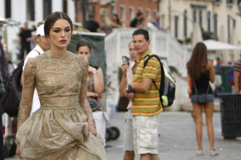 Actress Knightley walks in Venice during the 68th Venice Film Festival