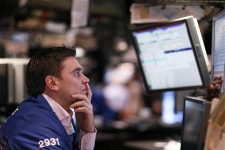 A trader works on the floor of the New York Stock Exchange