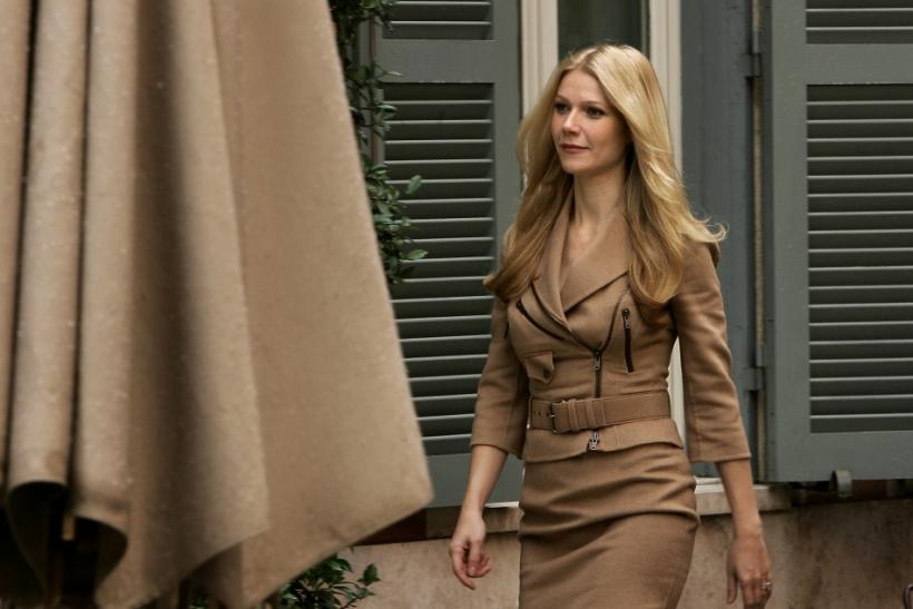 U.S. actress Paltrow arrives to attend a photo-call of her latest movie.