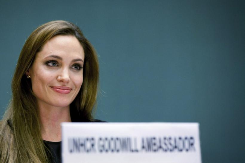 UNHCR Goodwill Ambassador Angelina Jolie speaks during an annual meeting of UNHCR's governing executive committee in Geneva