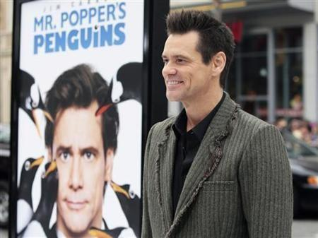 Actor Jim Carrey arrives for the premiere of the film ''Mr. Popper's Penguins'' in Hollywood