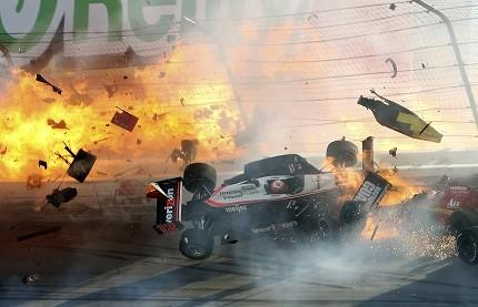 Dan Wheldon Crash Video Gruesome Indy Car Accident Kills