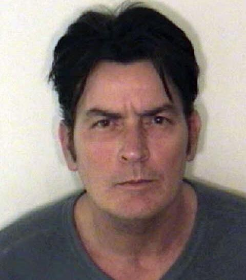 Handout photo of U.S. actor Charlie Sheen who was arrested for domestic violence