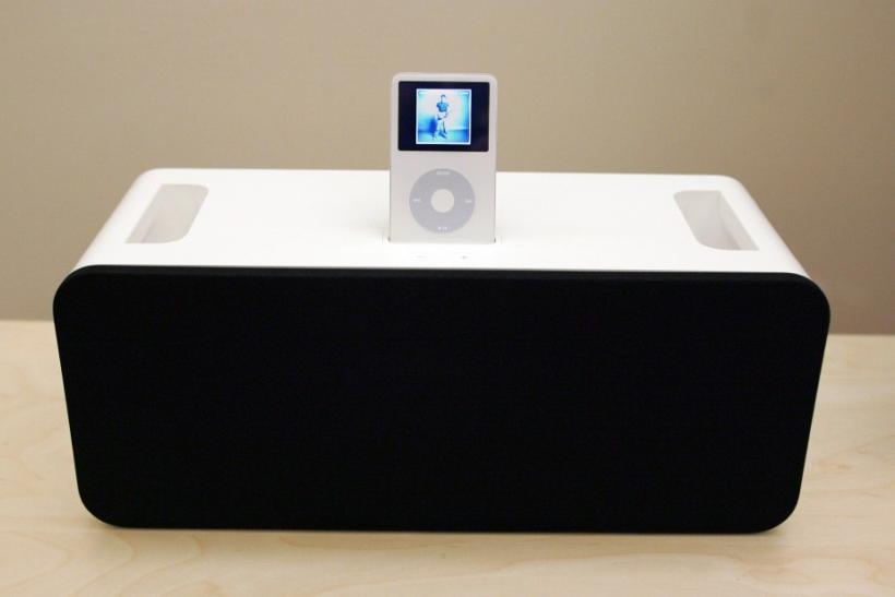 A view of the new Apple iPod Hi-Fi which was introduced by Apple CEO Steve Jobs at an event for press and industry analysts at Apple headquarters in Cupertino, California February 28, 2006. The Hi-Fi is a new home stereo high-fidelity speaker system which