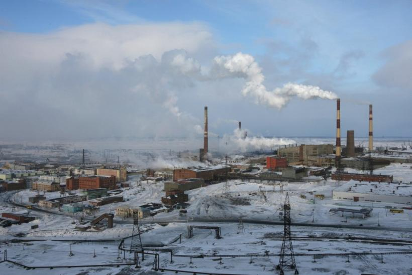Norilsk Nickel facility in Russian Arctic city of Norilsk
