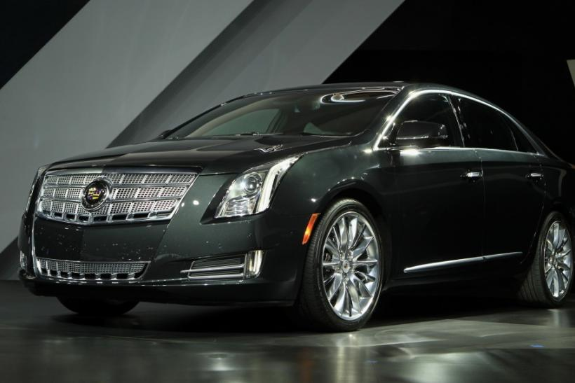 The Cadillac 2013 XTS is unveiled at the LA Auto Show in Los Angeles, California, November 16, 2011.