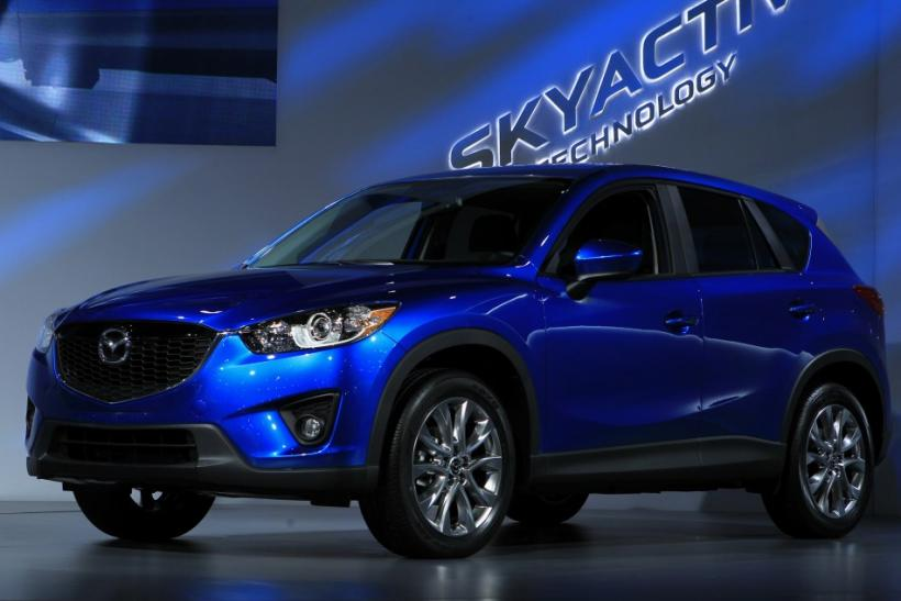 The Mazda CX-5 is unveiled at the LA Auto Show in Los Angeles, California