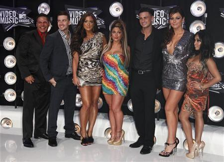 Cast members of the television program ''Jersey Shore'' arrive at the 2011 MTV Video Music Awards in Los Angeles