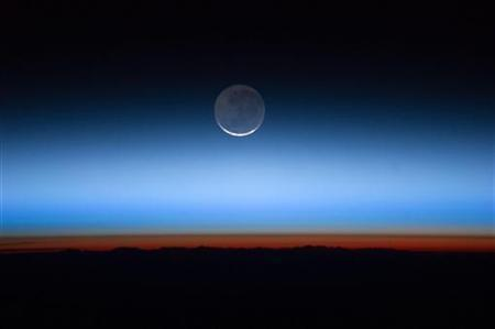 NASA undated handout image of the moon was photographed by the Expedition 28 crew aboard the International Space Station.