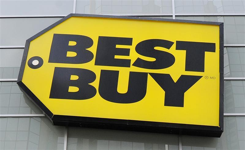 File photo of Best Buy logo seen at a store in Toronto.
