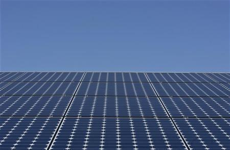 Solar panels sit a the roof in Richmond, California March 18, 2010.