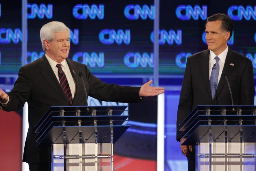 Mitt Romney and Newt Gingrich on Palestine