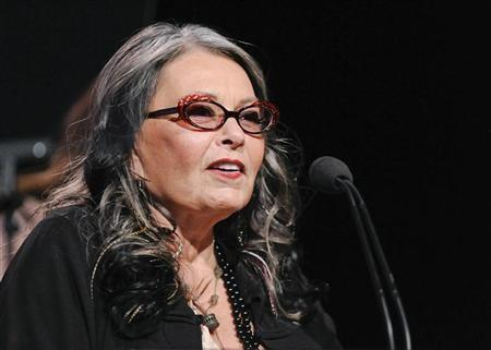Actress and reality show personality Roseanne Barr from the television show ''Roseanne's Nuts'' addresses the media during the Lifetime channel portion of the Press Tour for the Television Critics Association in Beverly Hills, Cal