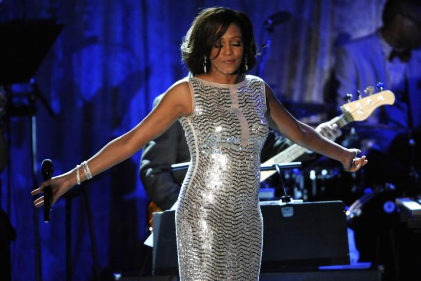 Whitney Houston performs at last year's Grammy Awards.