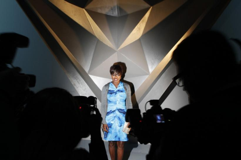 Actress Viola Davis poses for photographers before a presentation of the Vera Wang Fall/Winter 2012 collection during New York Fashion Week February 14, 2012.