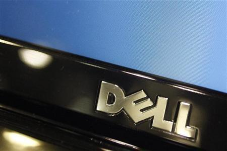 A Dell computer logo is seen on a laptop at Best Buy in Phoenix, Arizona, February 18, 2010.