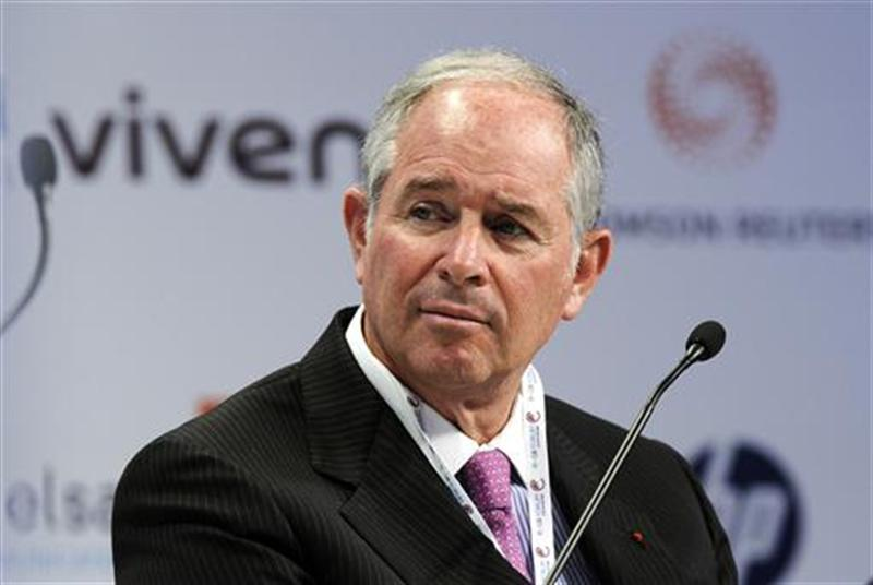 Blackstone Group co-founder Stephen A. Schwarzman attends the eG8 forum in Paris