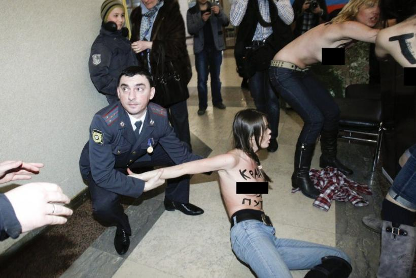 Russia Presidential Election: Femen Protest Against Putin