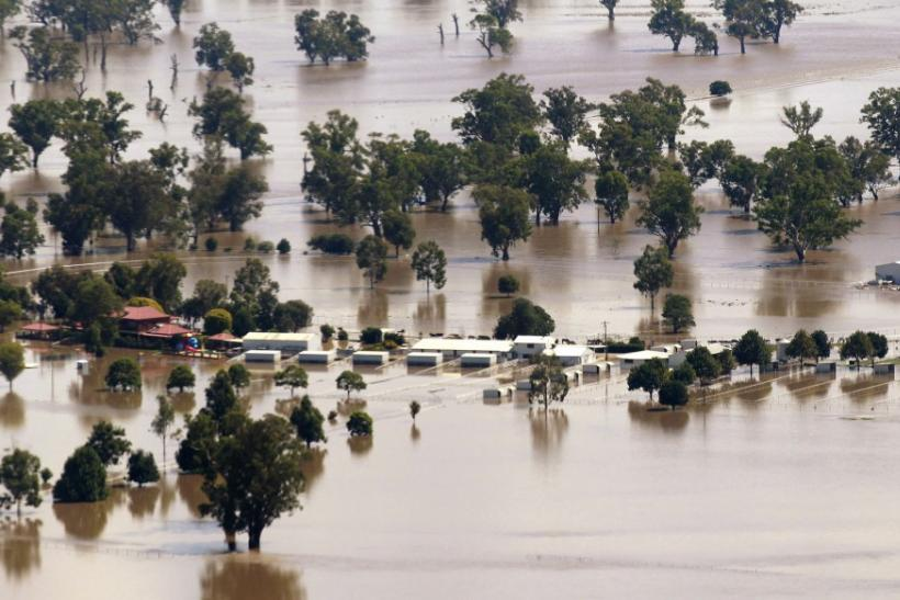 Aerial View of Flooding in Australia