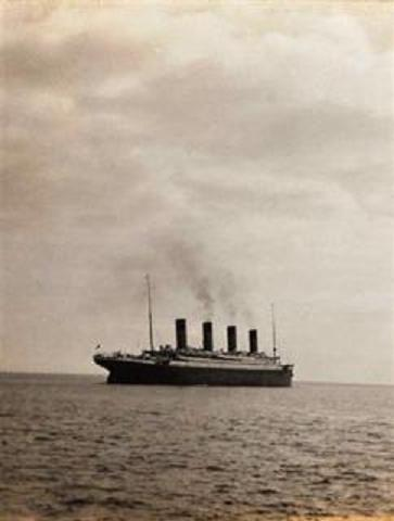 A hand out image released May 19, 2003 shows a photo of the Titanic.