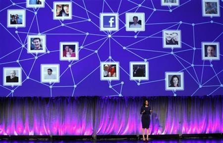 Facebook Chief Operating Officer Sheryl Sandberg delivers a keynote address at Facebook's ''fMC'' global event for marketers in New York City, February 29, 2012.