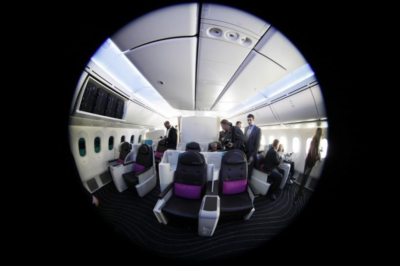 Interior of Boeing 787 Dreamliner