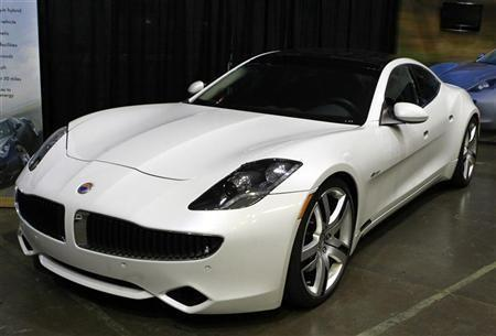 A Fisker Karma luxury plug-in hybrid car is seen at the sixth annual Alternative Transportation Expo and Conference (AltCar) in Santa Monica, California September 29, 2011.