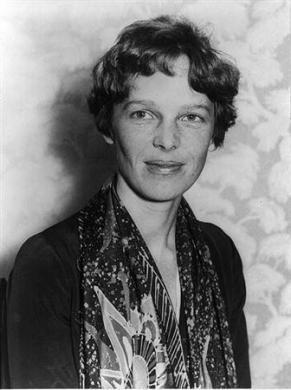 Amelia Earhart in a 1928 photo.