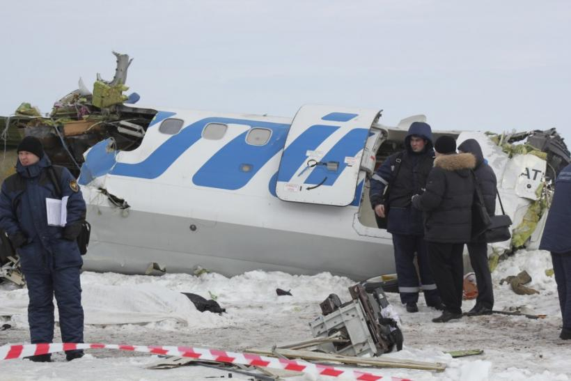 Russia air crash -- Tyumen, Siberia, Monday, April 2, 2012