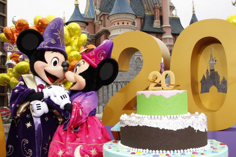 Mickey and Minnie are pictured at the 20th anniversary celebrations of Disneyland Resort in Marne-la-Vallee, outside Paris