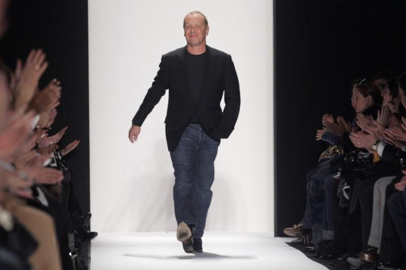 Designer Michael Kors walks the runway after 2007 fall fashion show during New York Fashion Week February 7, 2007.