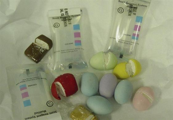 Cocaine in Easter Eggs