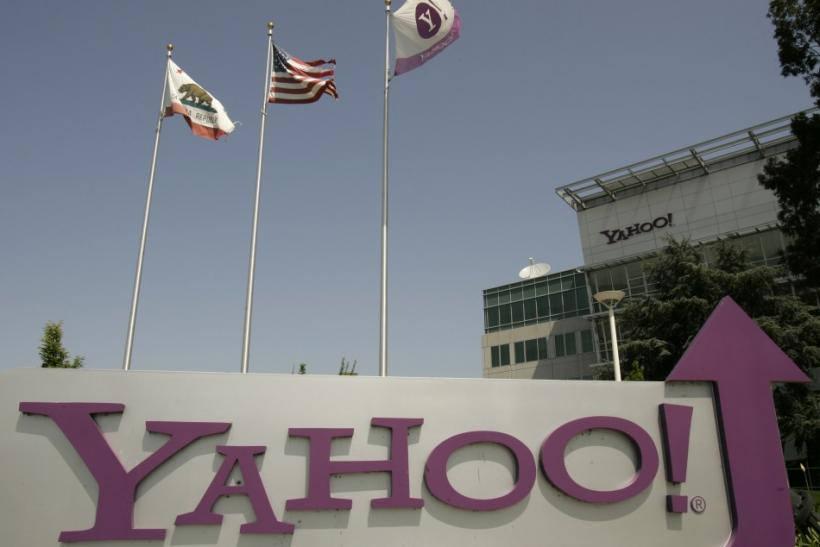 The headquarters of Yahoo Inc. is shown in Sunnyvale, California May