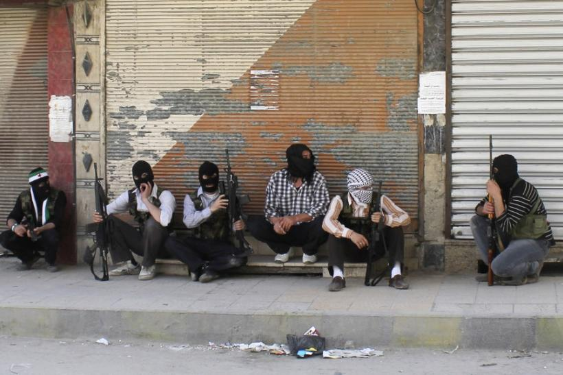 Free Syrian Army Members In Qaboun District Of Damascus