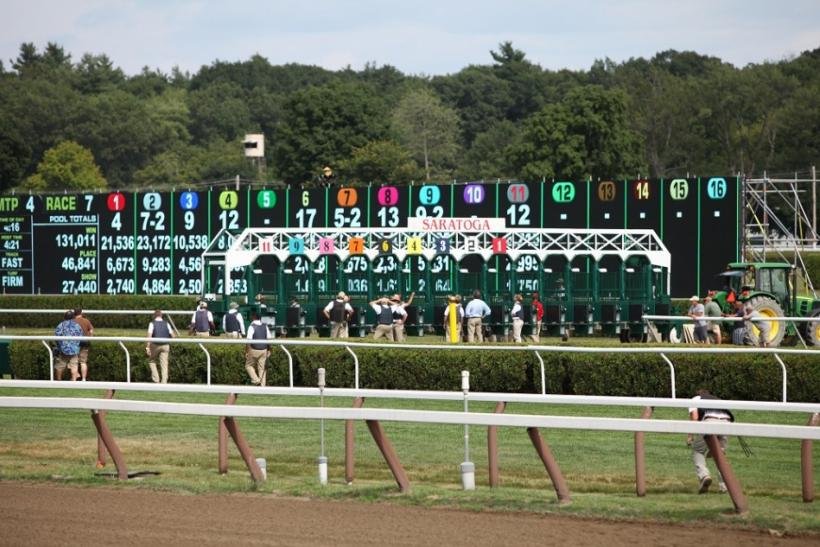 The track at the Saratoga Race Course.