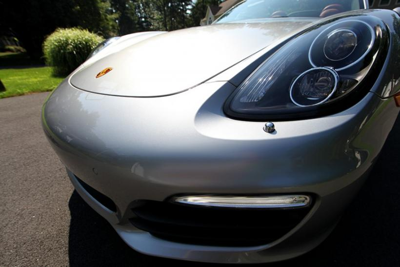 The front of the 2013 Porsche Boxster S.
