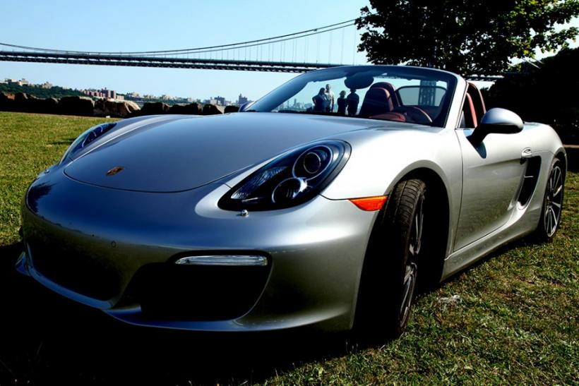 The 2013 Porsche Boxster S parked at Palisades Insterate Park.