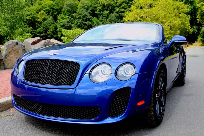The striking Bentley Continental Supersports Convertible seen from the front.