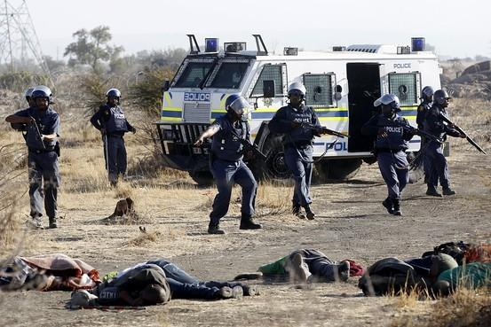 Policeat south africa mine