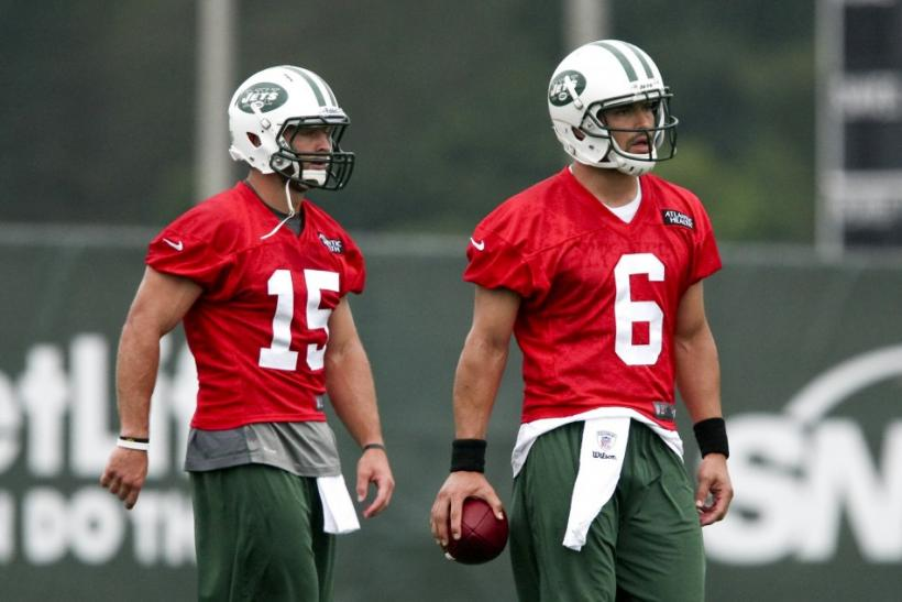 New York Jets QBs Mark Sanchez and Tim Tebow