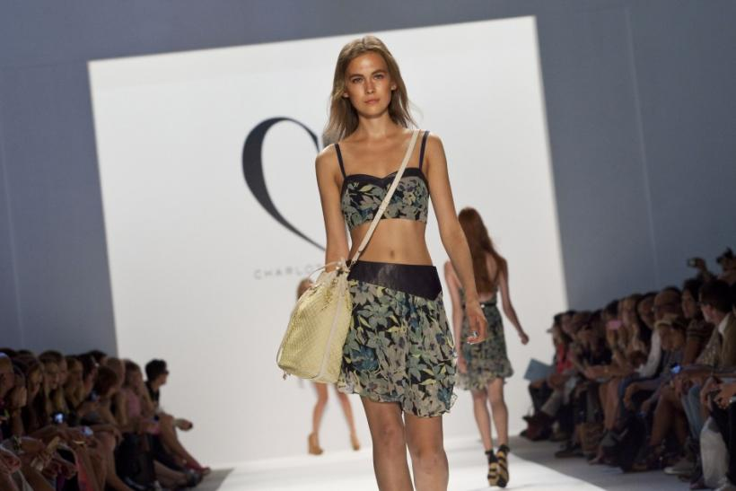 Designer Charlotte Ronson said water was her inspiration for her Spring 2013 collection ahead of Mercedes-Benz Fashion Week in New York, which was shown on Friday at the wall-to-wall and celebrity packed stage.