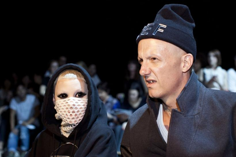 South African rap duo Die Antwoord attend the Alexander Wang Spring/Summer 2013 collection during New York Fashion Week, September 8, 2012.