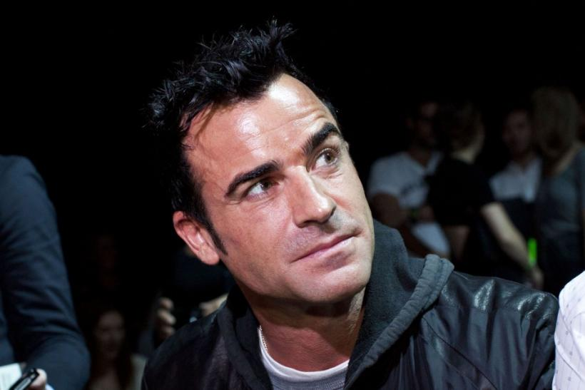 Actor Justin Theroux is seen before the Alexander Wang Spring/Summer 2013 collection during New York Fashion Week, September 8, 2012.