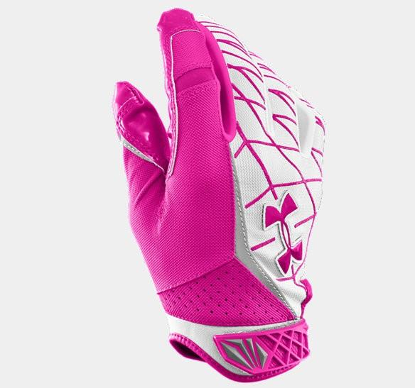 pink breast gloves