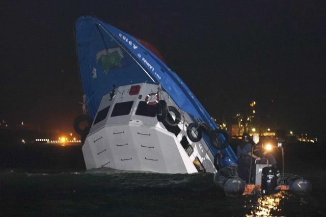 Boats Collide Off Hong Kong