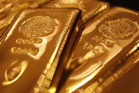 Gold bars are pictured