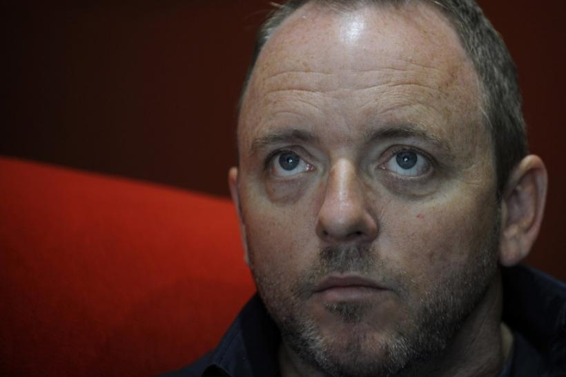 U.S. writer Dennis Lehane looks on during an interview at the XXIV Noir Week book fair in Gijon