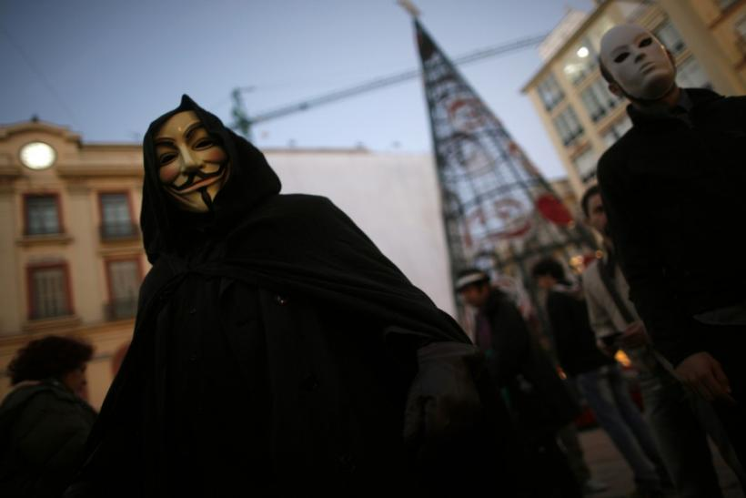 Anonymous Hackers Protest Members Arrest